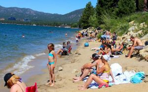 Massive winter means smaller beaches at Lake Tahoe this summer