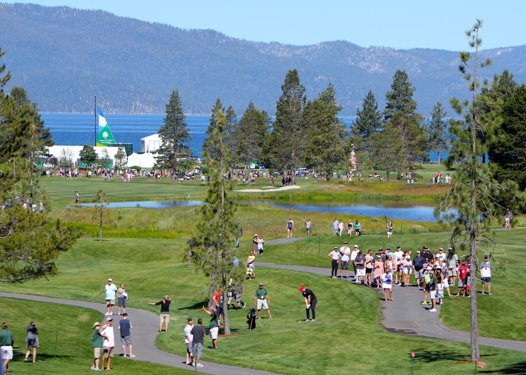 Thousands of spectators were at Edgewood Tahoe on Saturday.