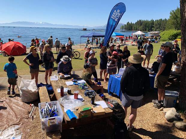 Volunteers cleaned up 1,875 p​ounds of litter from 10 miles of shoreline on July 5.