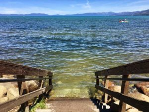 Lake Tahoe water level approaches legal limit