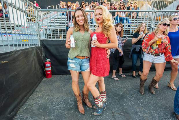Fans waiting for Miranda Lambert to take the stage with special guest Randy Houser at the Harveys Lake Tahoe outdoor concert venue on Thursday, July 18th.