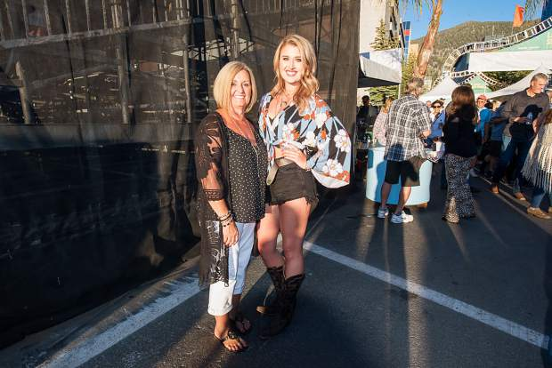 Fans waiting to see Blake Shelton take the stage with special guest Mark Mackay at the Harveys Lake Tahoe outdoor concert venue on Friday, July 12.