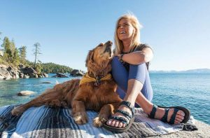 Stand-up paddleboarder and her dog become ambassadors of SUP at Lake Tahoe