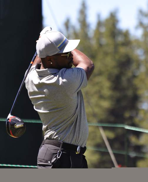 Former Philadelphia Phillies shortstop Jimmy Rollins watches a drive Wednesday.