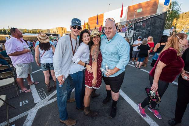 Fans waiting to see Luke Bryan perform with special guest John Langston at the Harveys Lake Tahoe outdoor concert venue on Sunday, Aug. 25.