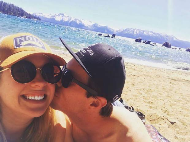 6 years + 1 month + 2 days of cheesin' with my best friend #latergram #laterversary #beachbabes #tahoesnaps #laketahoe