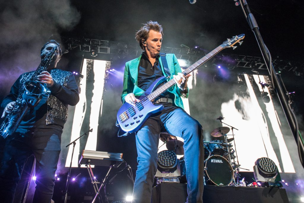 Duran Duran performing at the Harveys Lake Tahoe outdoor concert venue on Friday, Sept. 13.