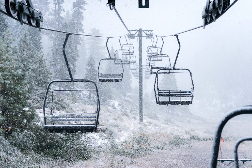 A chairlift at Heavenly Mountain Resort.