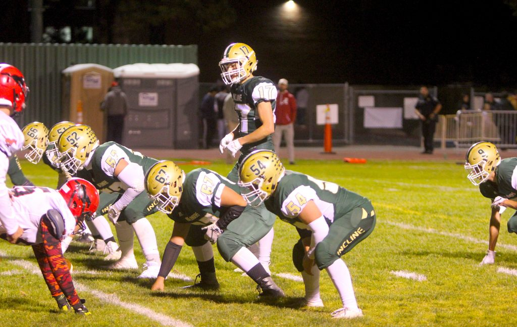 The Incline offense against Pershing County.
