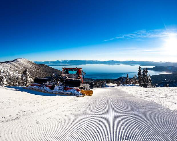 New snow maker at Diamond Peak.