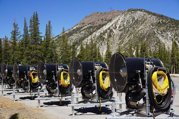 New snowmakers at Mt. Rose.