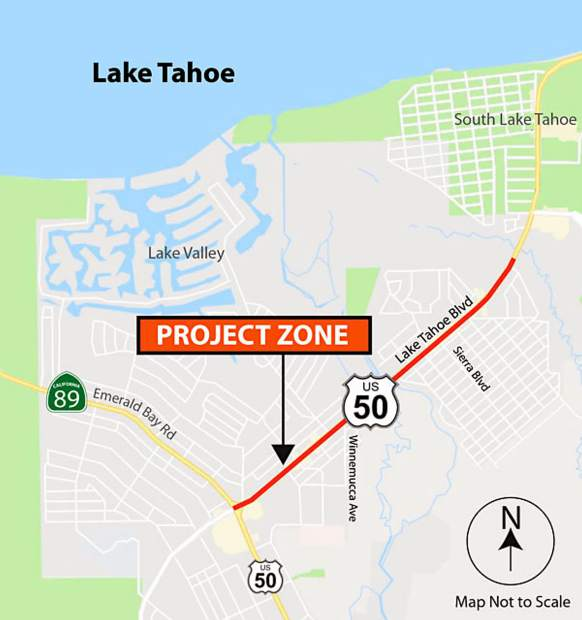 Forecast forces Caltrans to push Highway 50 paving work into weekend at South Lake Tahoe