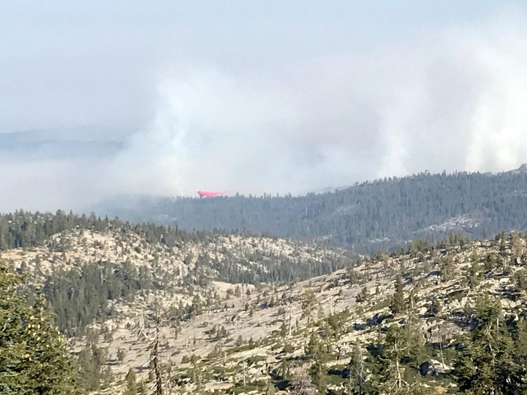 Smoke from Caples Fire lingering at Lake Tahoe, but forest service expects containment this week
