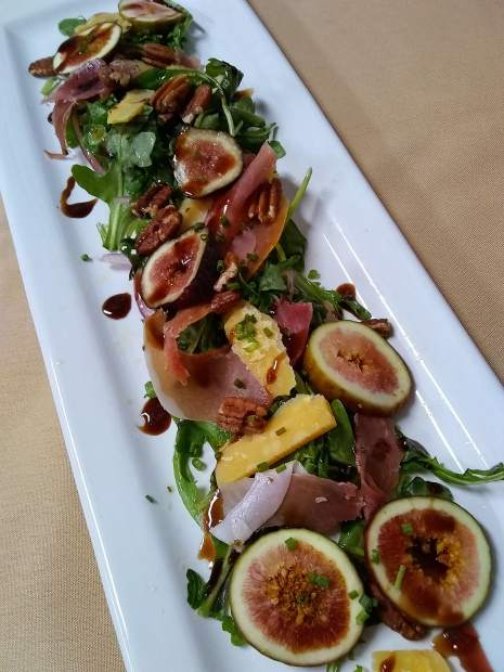 The Lake House is serving a seasonal salad that includes figs and toasted pecans.