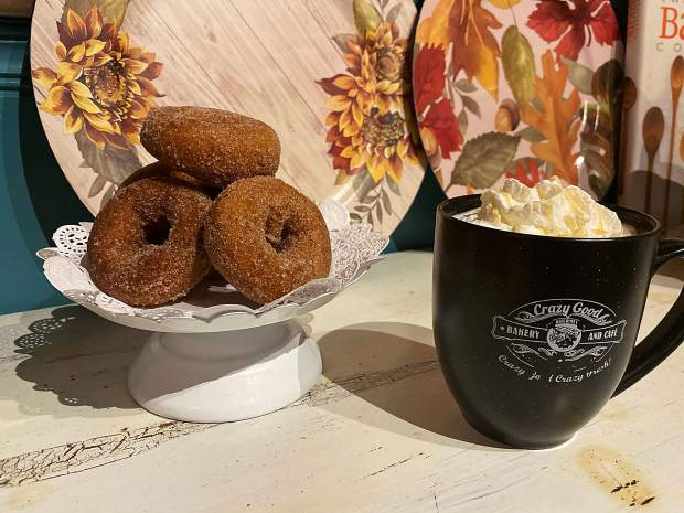 Crazy Good Bakery's Apple Cider Doughnuts.