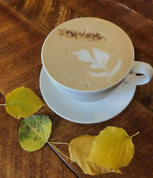 Fallen Leaf Latte at Revive Coffee and Wine.