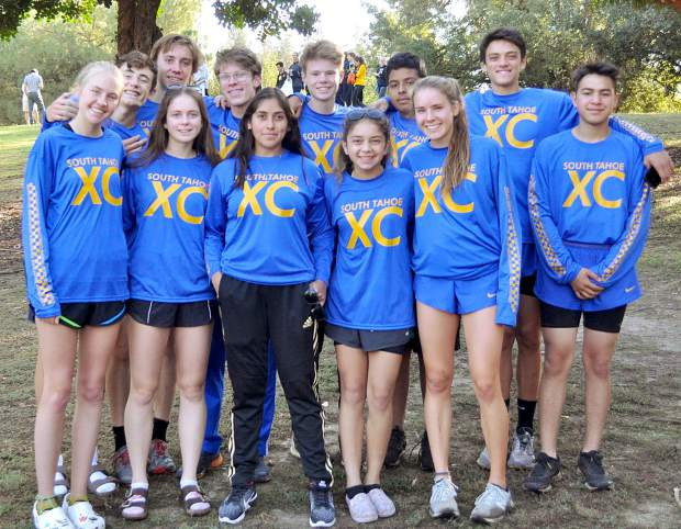 The South Tahoe High School cross country team.
