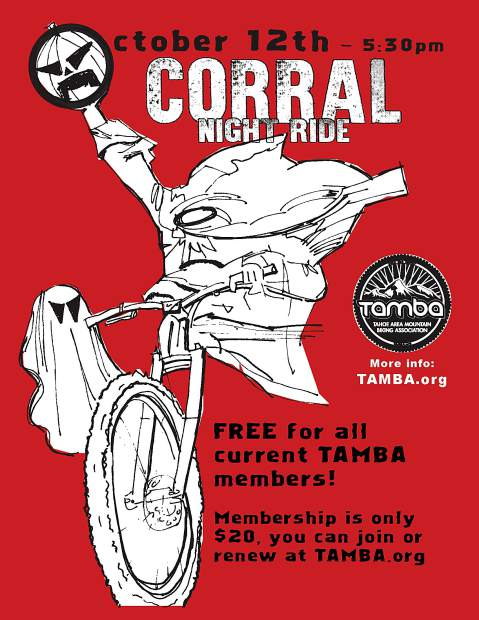 TAMBA encourages everyone to bring their mountain biking friends to this annual Halloween themed night ride.
