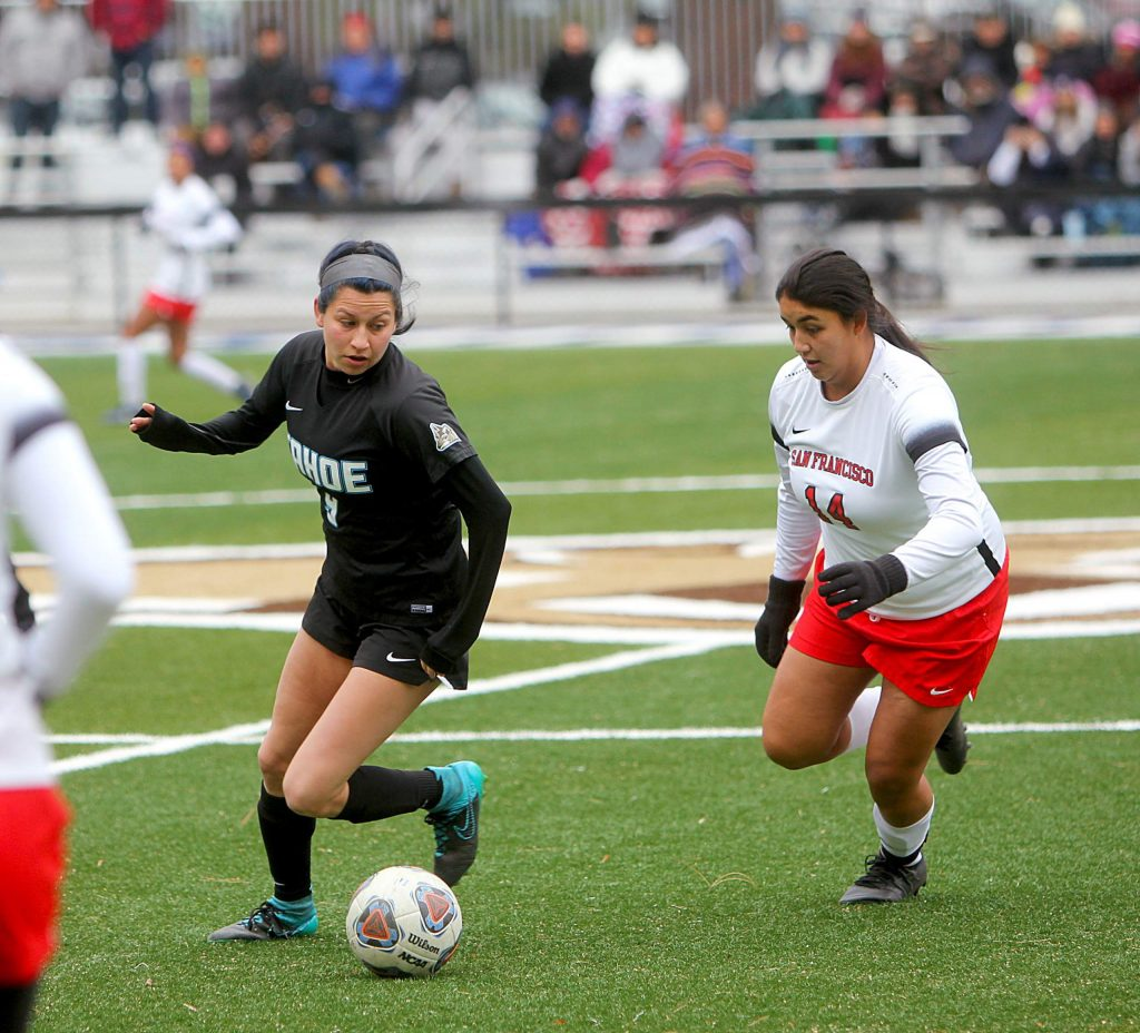 Melanie Ara controls possession for Lake Tahoe.