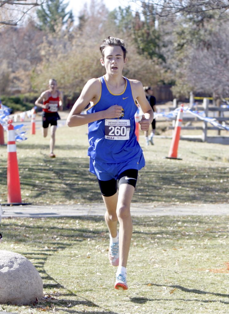 South Tahoe's Leyton Sweeney finishes strong at regionals to qualify for the state meet.