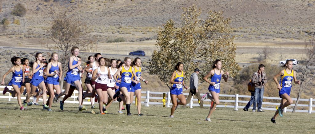 Beginning of the class 3A regional meet Saturday in Reno.