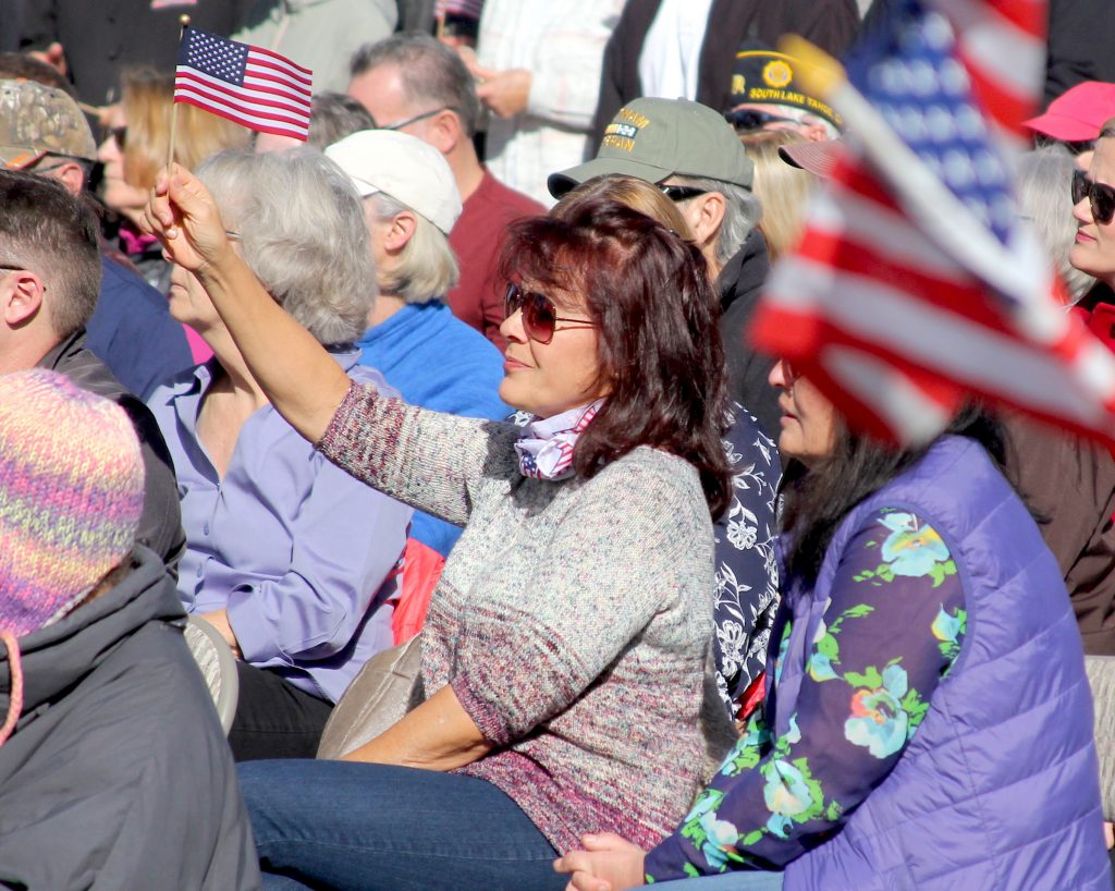 Hundreds showed up Monday for a Veterans Day ceremony.