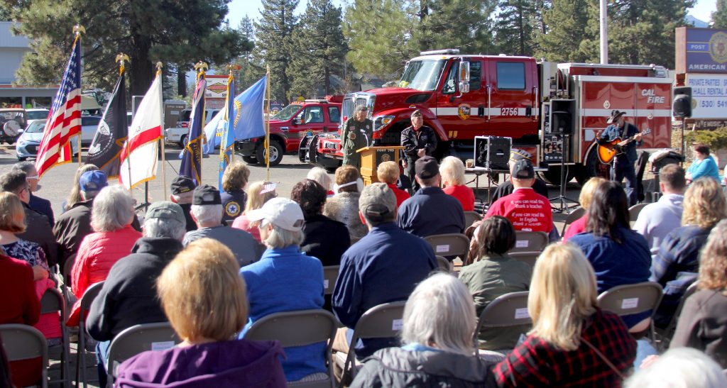 There was standing room only Monday during a Veterans Day ceremony in South Lake Tahoe.