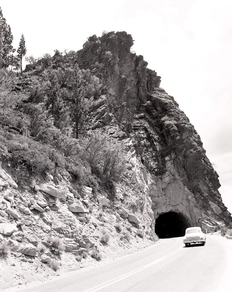 The first tunnel was blown through Cave Rock in 1931.