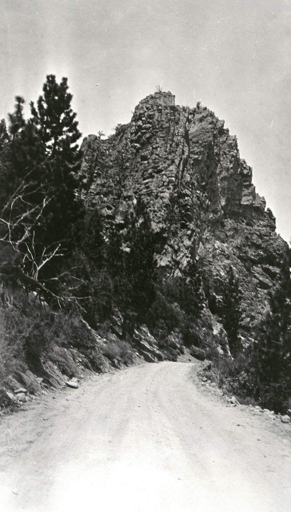 Before the first tunnel was blasted through Cave Rock, there was a dirt road going around the structure and over a trestle bridge.