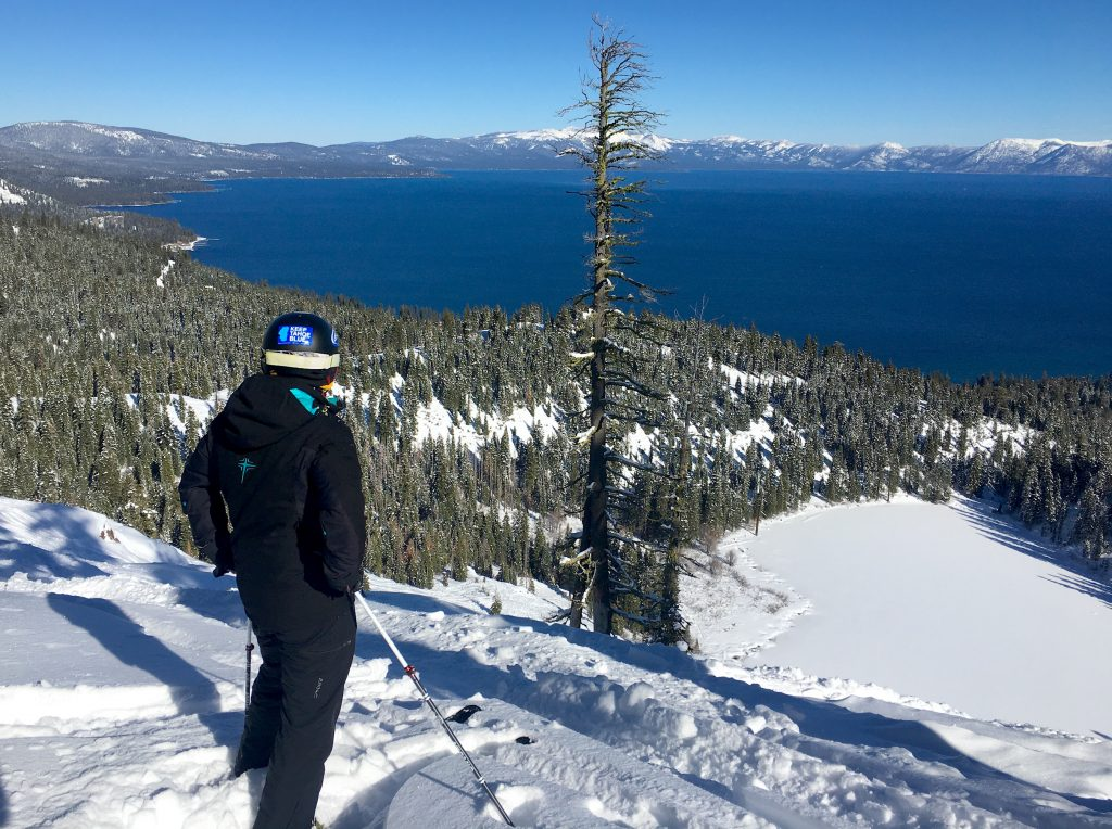 Looking out at Lake Tahoe Friday from the Quail Face at Homewood Mountain Resort.