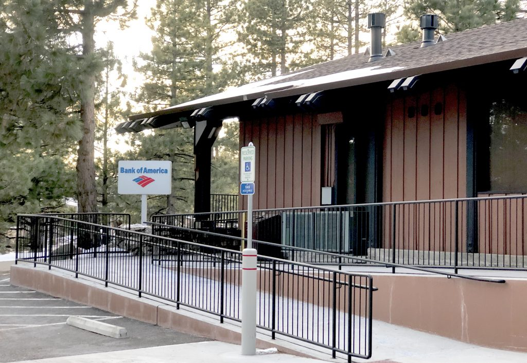 The Bank of America closed in Incline village.