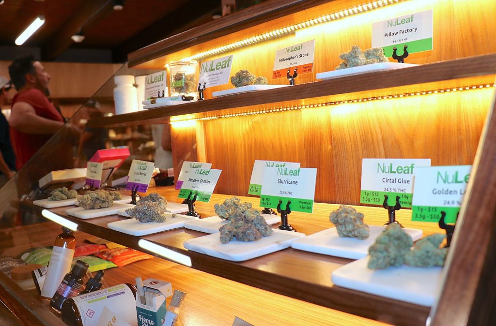 NuLeaf Tahoe in Incline Village, the only dispensary on Lake Tahoe's North Shore, offers a wide variety of marijuana products for medical and recreational users.