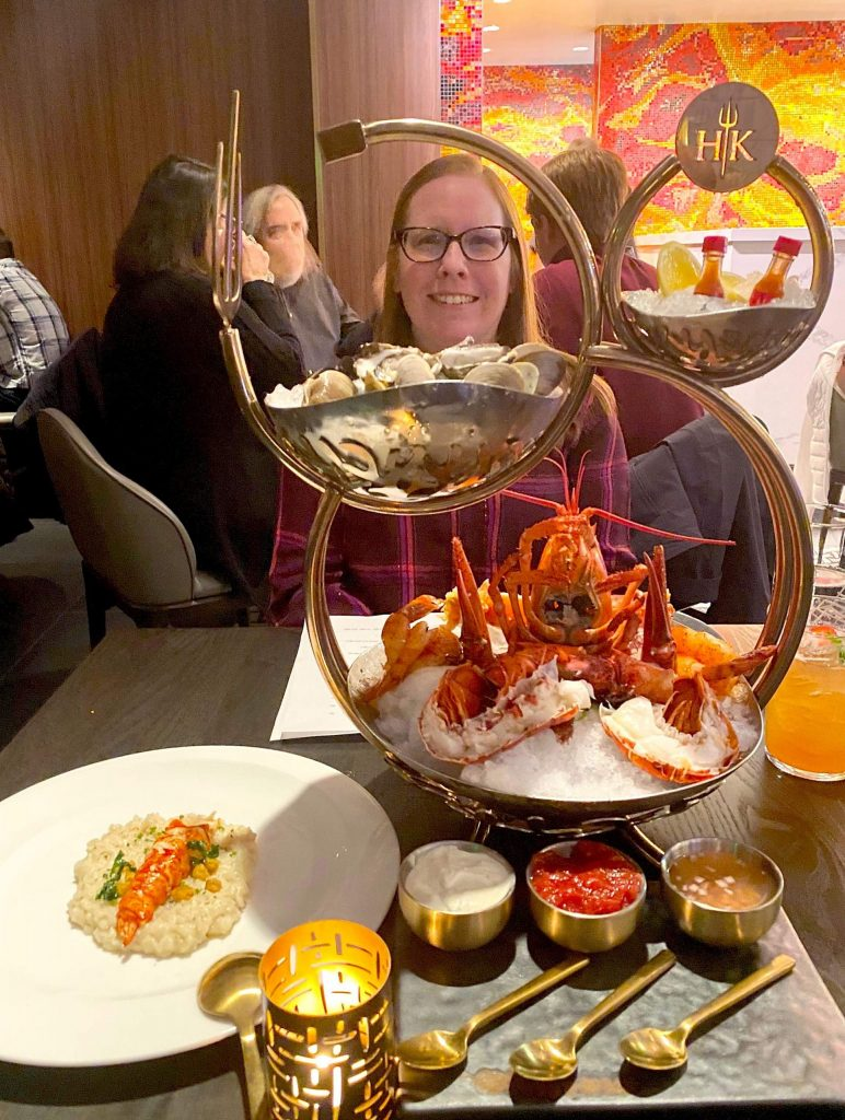 The Grand Shellfish Tower for Two was a showstopper when it came to the table.