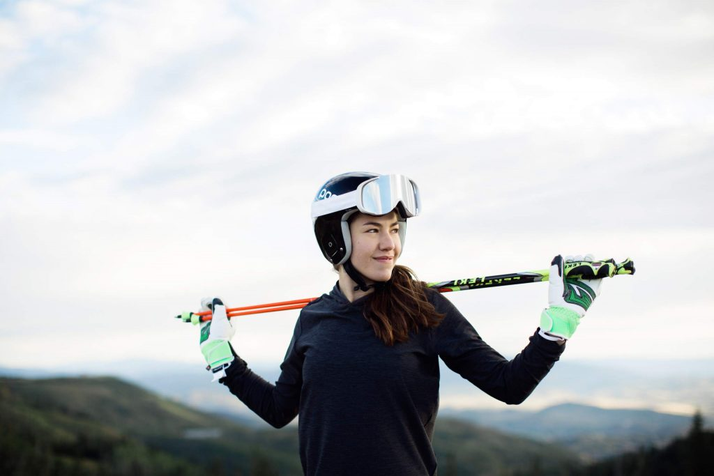 Lila Lapanja of Incline Village is seen in 2016 after overcoming a back injury that sidelined her from racing for 18 months. Back in 2014, Lapanja recalls skiing her gnarliest line ever.