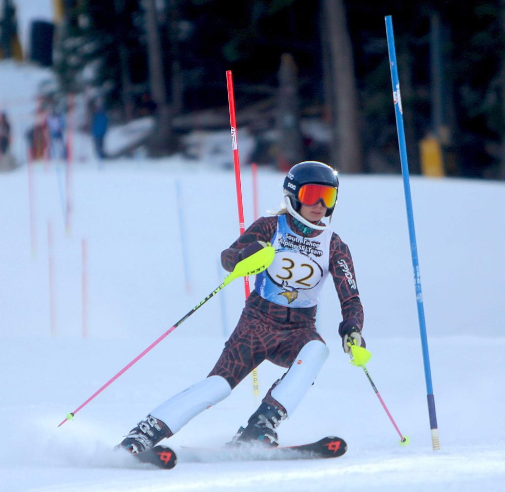 South Tahoe's Annie Ferguson Wednesday at Heavenly.