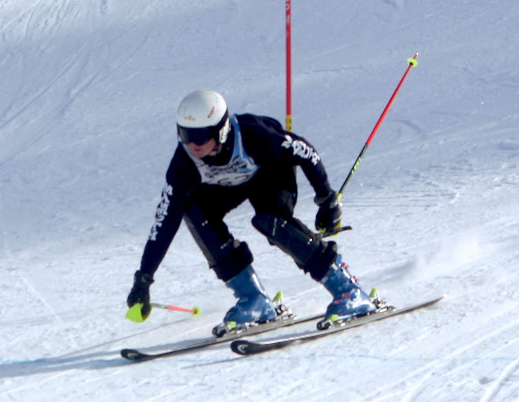 South Tahoe's Aksel Ferrier was in the top 10 after his first run but didn't finish his second try Wednesday at Heavenly.
