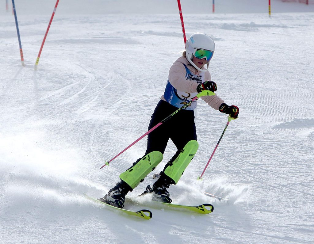 Anna Lyle was the Vikings top skier Wednesday at Heavenly.