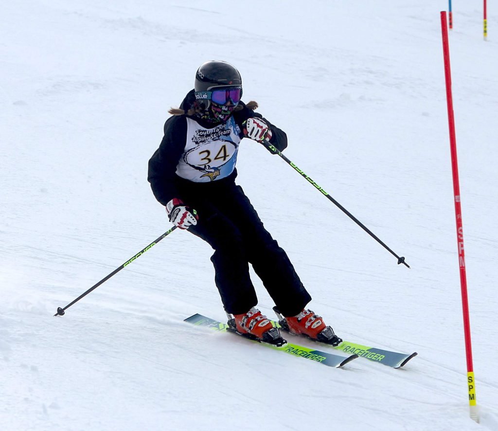Mylie Blanchard competes for South Tahoe.