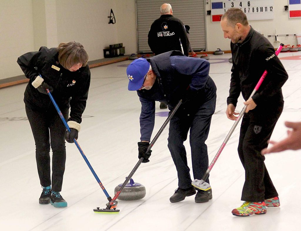 Curlers say they like curling because it's a social sport.