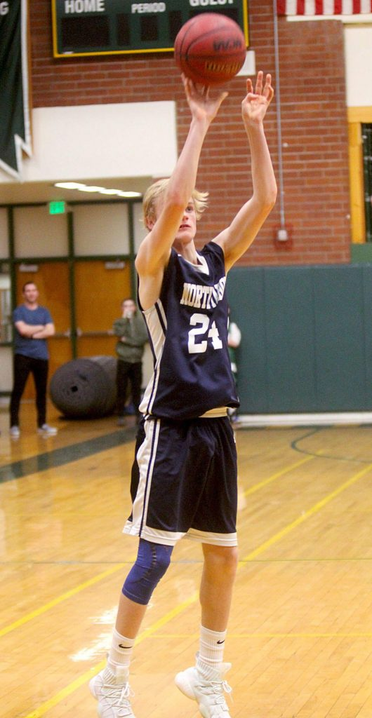 Lucas Valois drills a 3-pointer for North Tahoe.