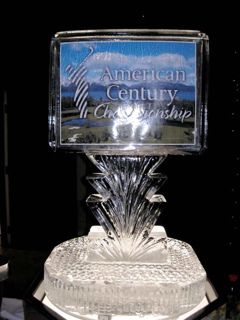 This ice sculpture was done for the American Century Championship at Edgewood.