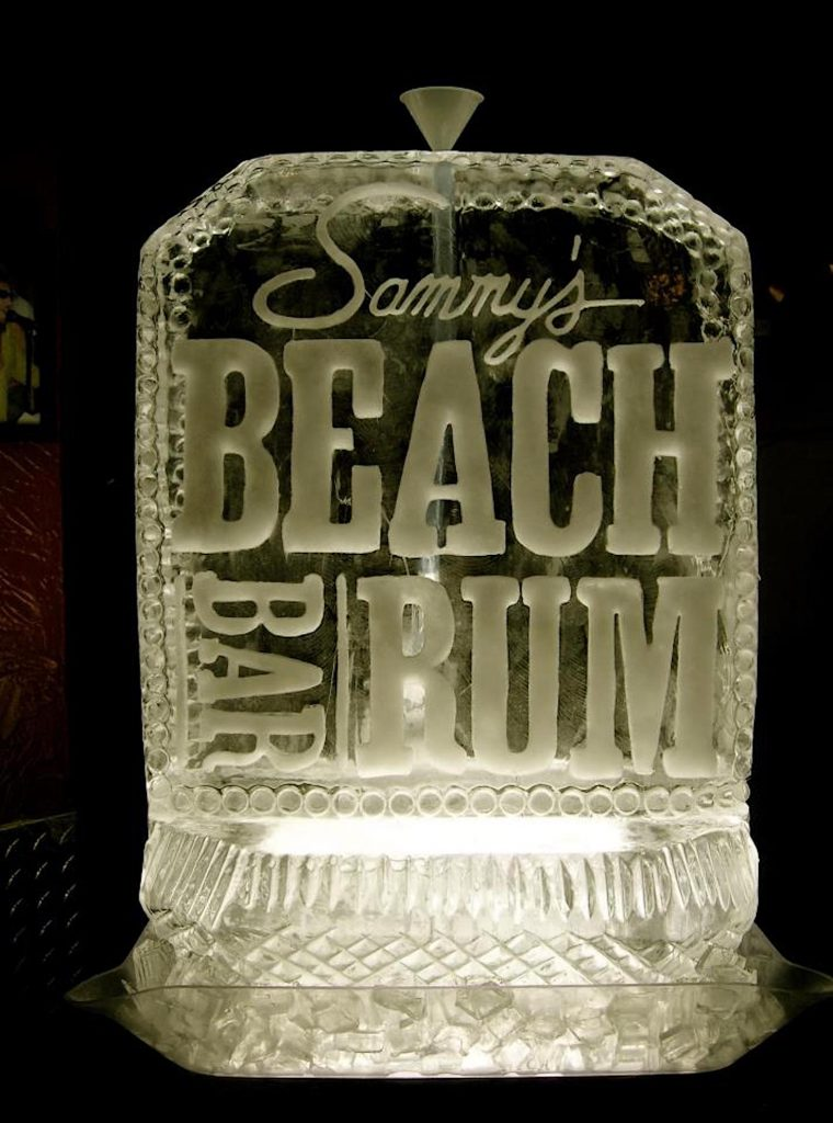 Many of Winslow's ice sculptures are for clients hosting events at the Tahoe casinos.