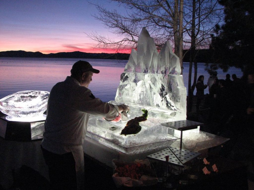 Winslow's ice bars have graced lakefront homes and casinos for decades.