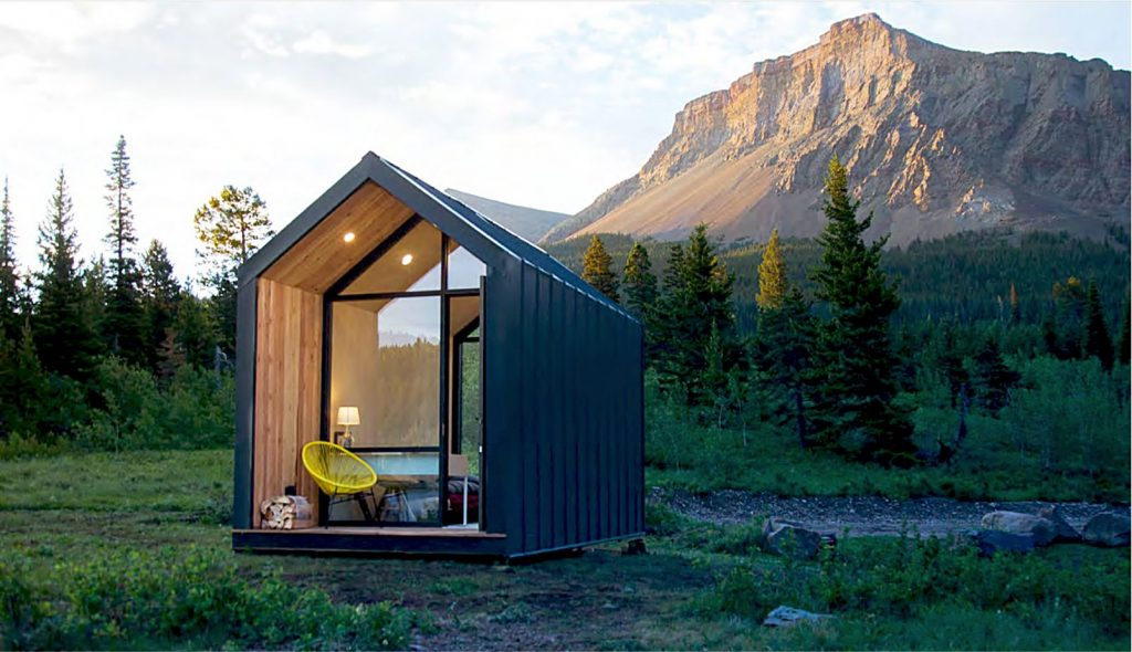 An example of a summer camping cabin.