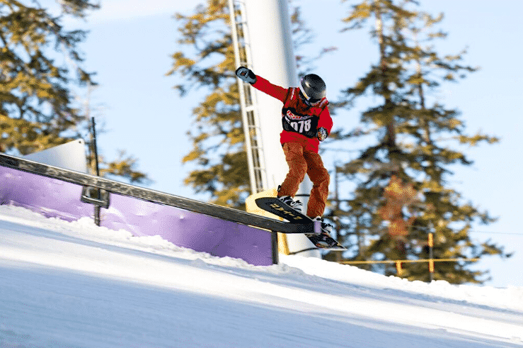 Luke Leal competes in Slopestyle last weekend at Sierra-at-Tahoe.