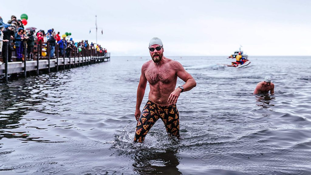 Garwood's Polar Bear Swim takes place on Leap Day.