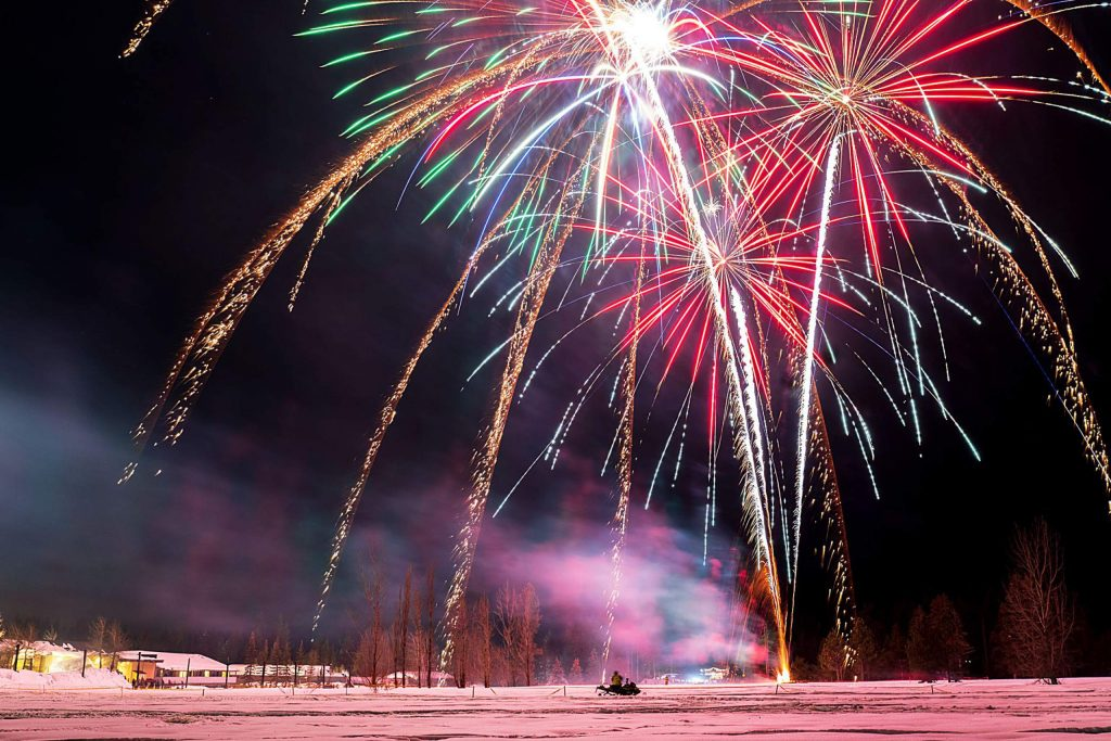 SnowFest fireworks kick of the 8-day long festival.