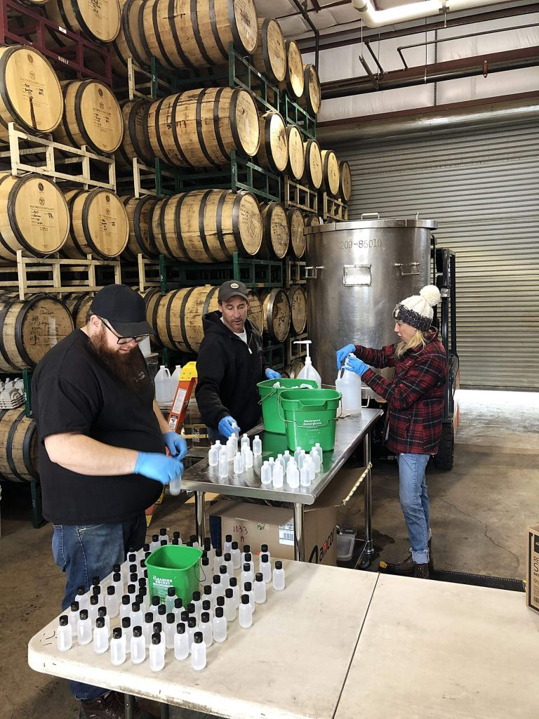 Old Trestle Distillery has switched from making spirits at its Truckee location to making hand sanitizer for the community.