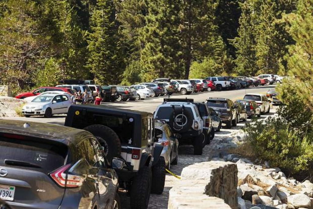 There is one parking spot for every 813 cars in the Emerald Bay area.
