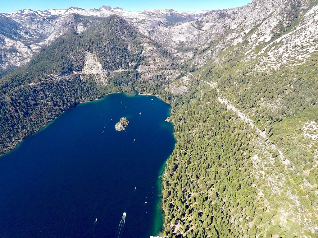 State Route 89 through Emerald Bay sees over one million visitors annually.